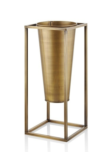 The Mia Vazo 70 x 30 x 30 Cm Gold Altın
